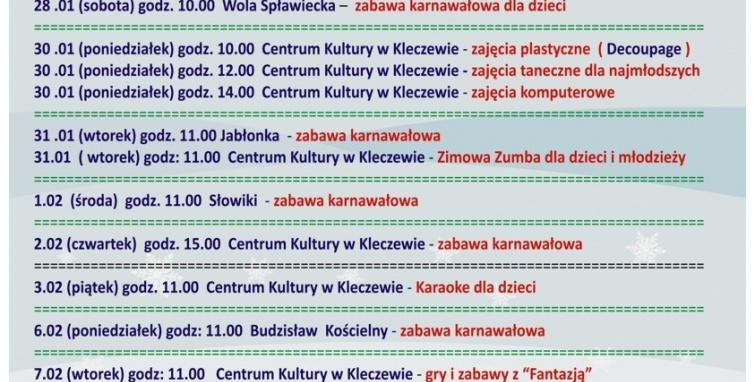 Artystyczne ferie w gminie Kleczew