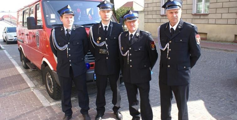 Reprezentacja gminy Kleczew na Dniu Strażaka w Koninie