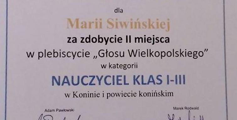 Maria Siwińska na medal