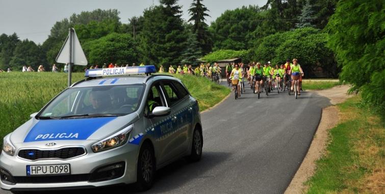 Tłum na rowerach