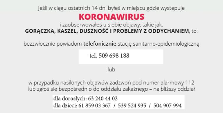 KORONAWIRUS - UWAGA
