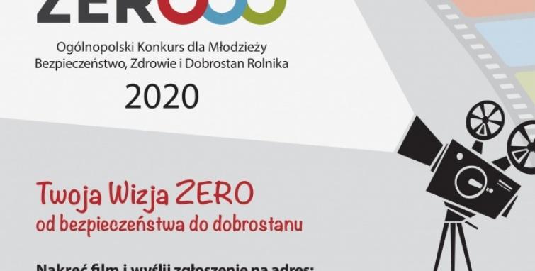 Ogólnopolski Konkurs dla Młodzieży  Bezpieczeństwo, Zdrowie i Dobrostan Rolnika 2020 Moja Wizja Zero