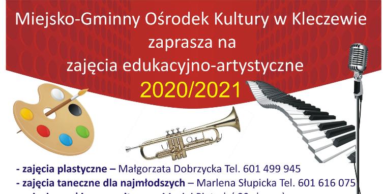 M-GOK w Kleczewie zaprasza na zajęcia edukacyjno-artystyczne