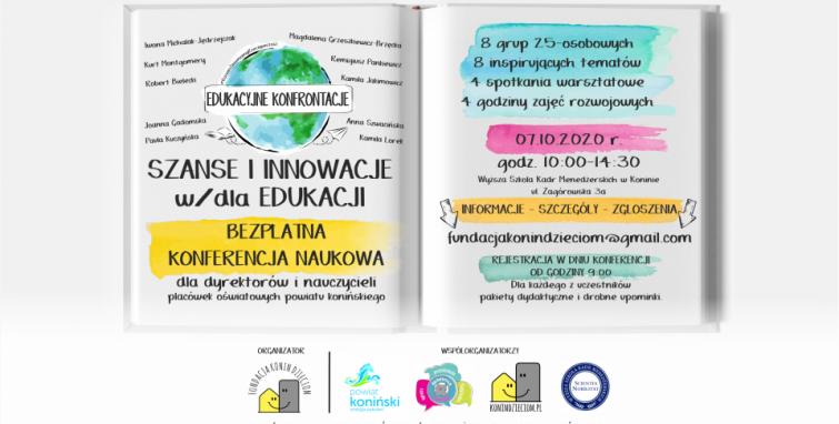 """Bezpłatna konferencja naukowa - """"Alternatywy i innowacje w/dla edukacji"""