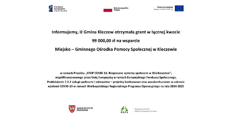 Gmina Kleczew otrzymała grant