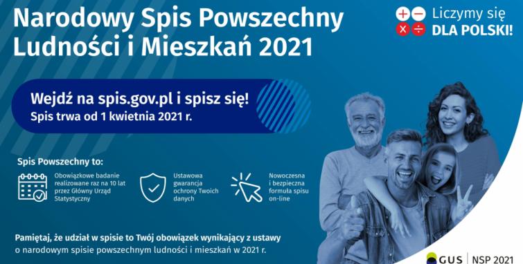 Już 1 kwietnia zacznie się Narodowy Spis Powszechny Ludności i Mieszkań 2021!