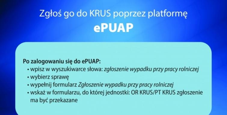 Zgłoszenia wypadków w rolnictwie na platformie ePUAP