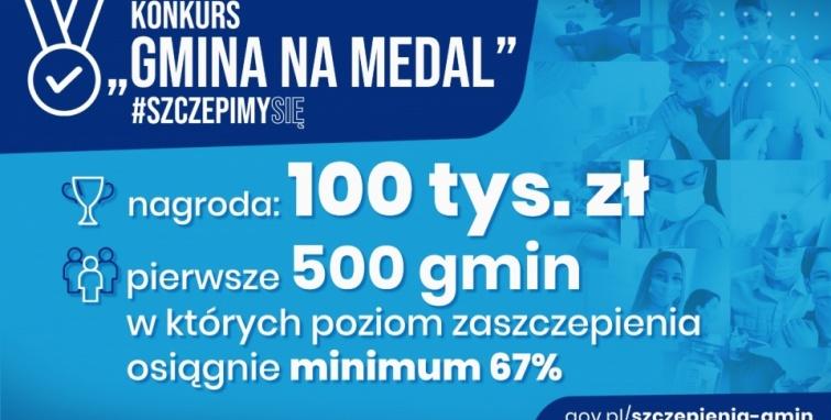 Konkursy: Gmina na Medal  #SzczepimySię i Najbardziej Odporna Gmina