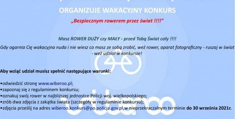 """Konkurs """"Wielkopolski Bezpieczny Rower"""""""