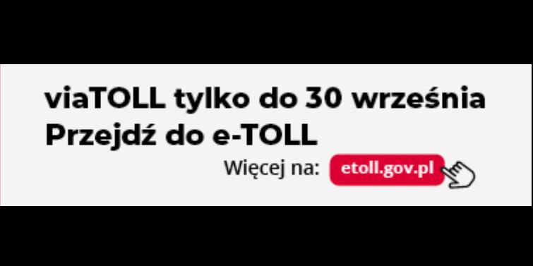 Został już tylko tydzień do wygaszenia usługi viaTOLL dotychczas używanej do poboru opłat drogowych.